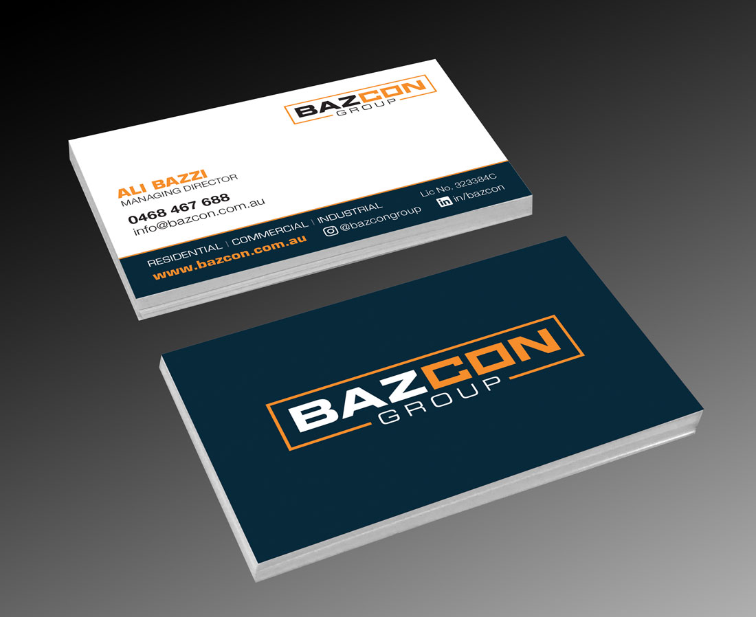 Bazcon Group business card