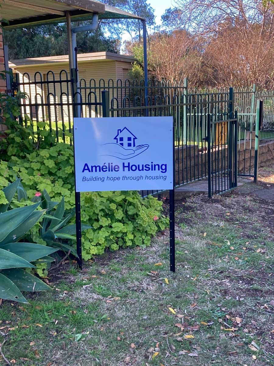 Amelie housing signage 3
