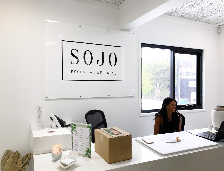 SOJO Essential Wellness - Reception Signage